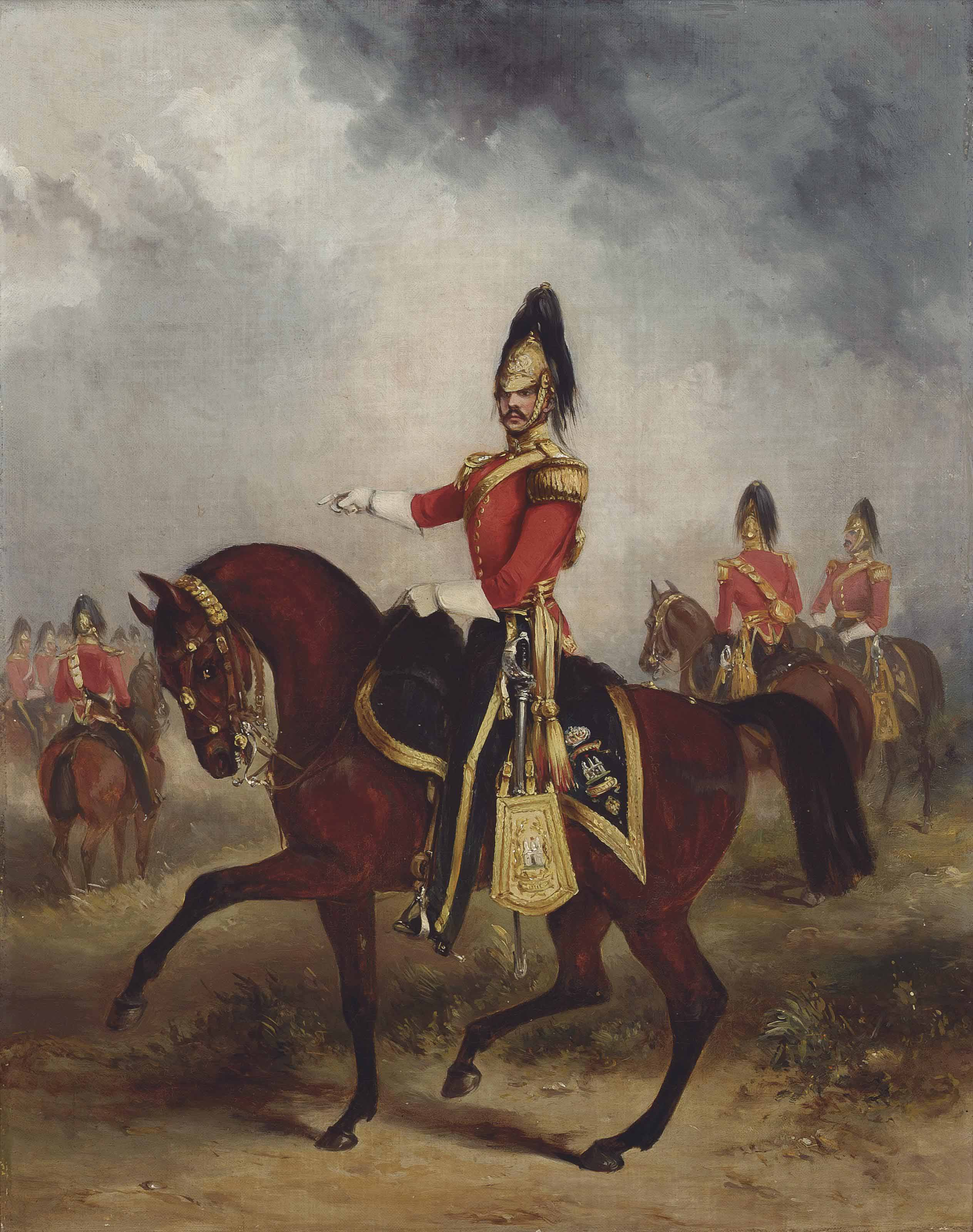 Equestrian portrait of Captain Thomas Fraser Grove (1823-1897), Captain in the 6th Dragoons