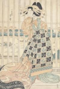 Kikugawa Eizan (1787-1867 UTAGAWA TOYOHIRO (1773-1828) and two others