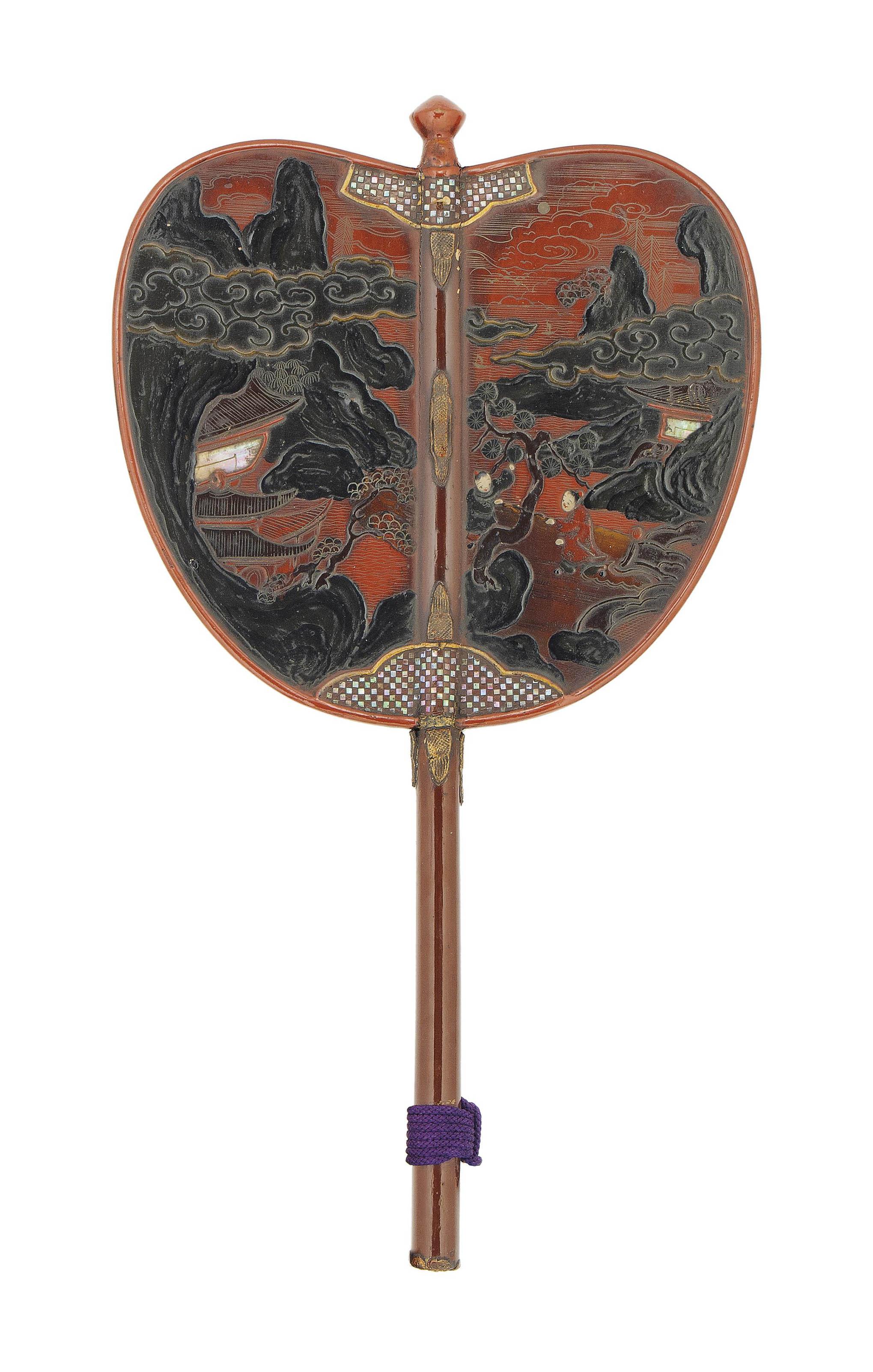 A Lacquer Gunbai [War Fan]   EDO PERIOD (18TH CENTURY