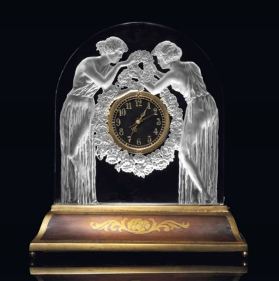 DEUX FIGURINES CLOCK, NO. 726