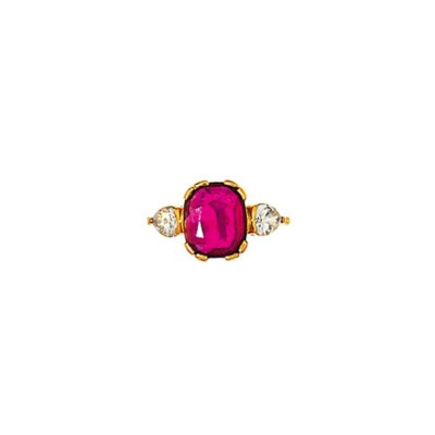 A ruby and diamond ring, by Pi