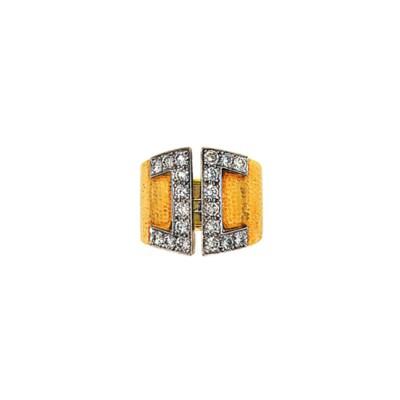 A diamond dress ring, by David