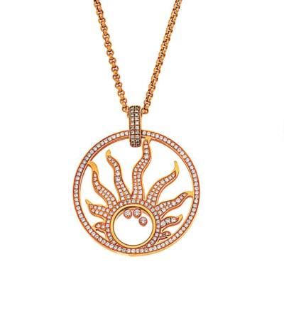 A 'Happy Diamonds' Sun pendant