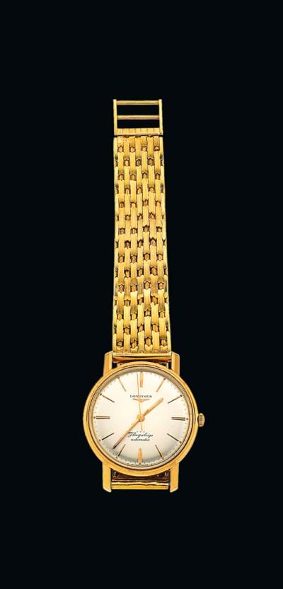 An automatic bracelet watch, b