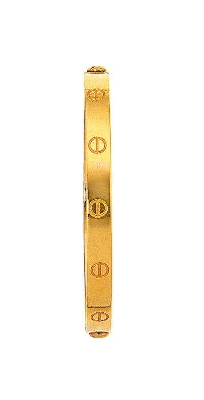 A 'Love' bangle, by Cartier