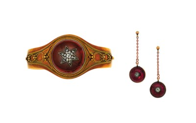 A 19th century garnet and diam