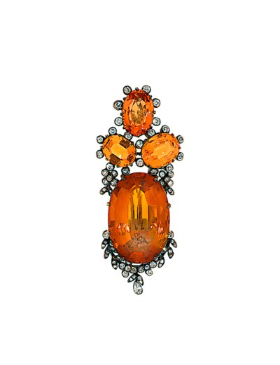 A late 19th century citrine, t