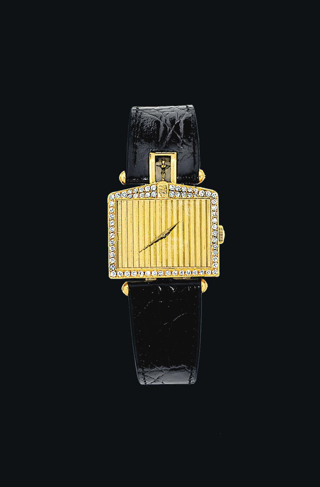 A Diamond Set 18ct Gold Quot Rolls Royce Quot Wristwatch By