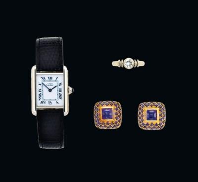 A wristwatch, by Cartier, a di