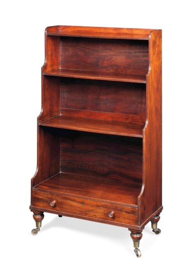 A GEORGE IV SIMULATED ROSEWOOD