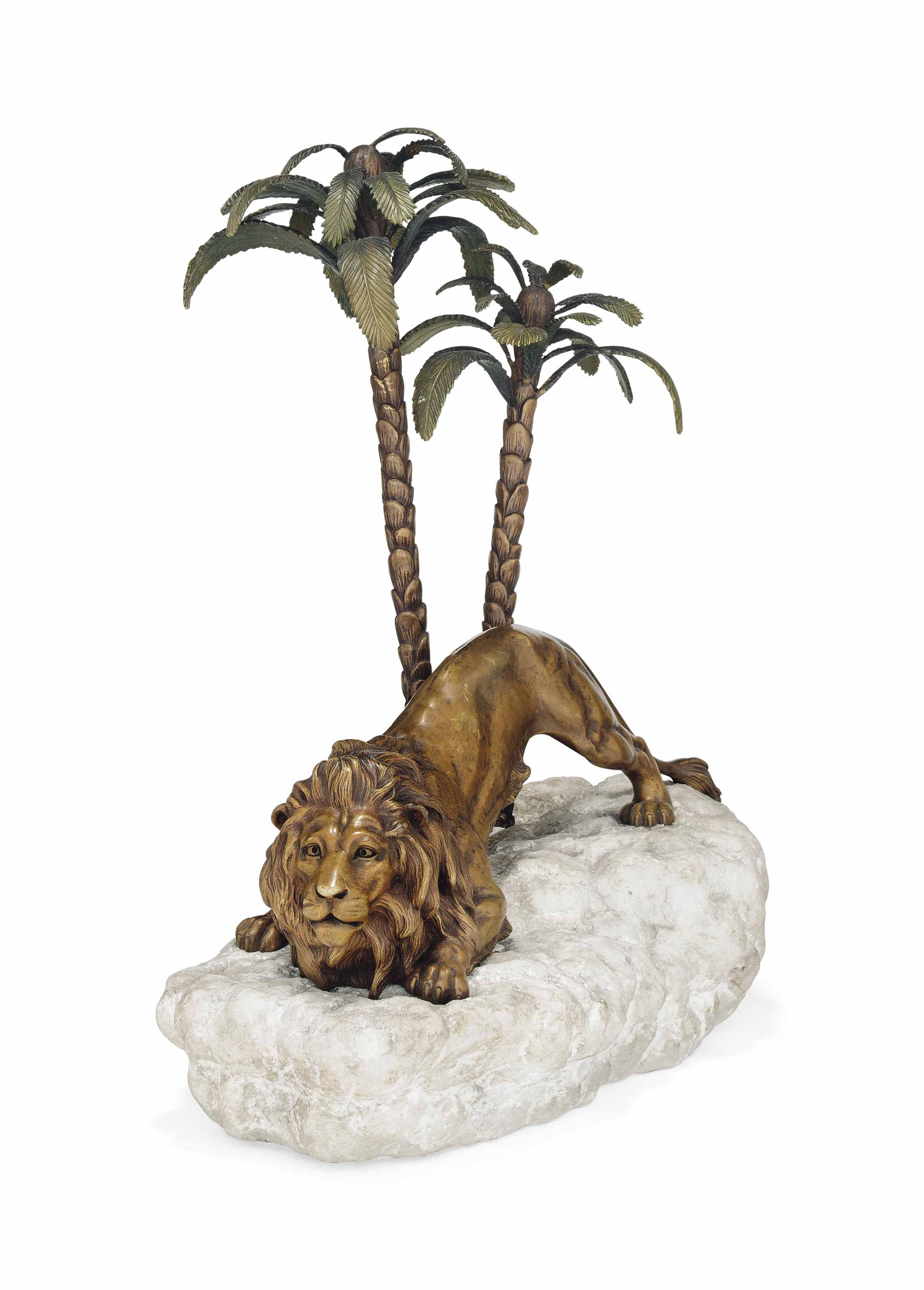 A PATINATED AND COLD-PAINTED BRONZE ATTRIBUTED TO FRANZ XAVIER BERGMANN