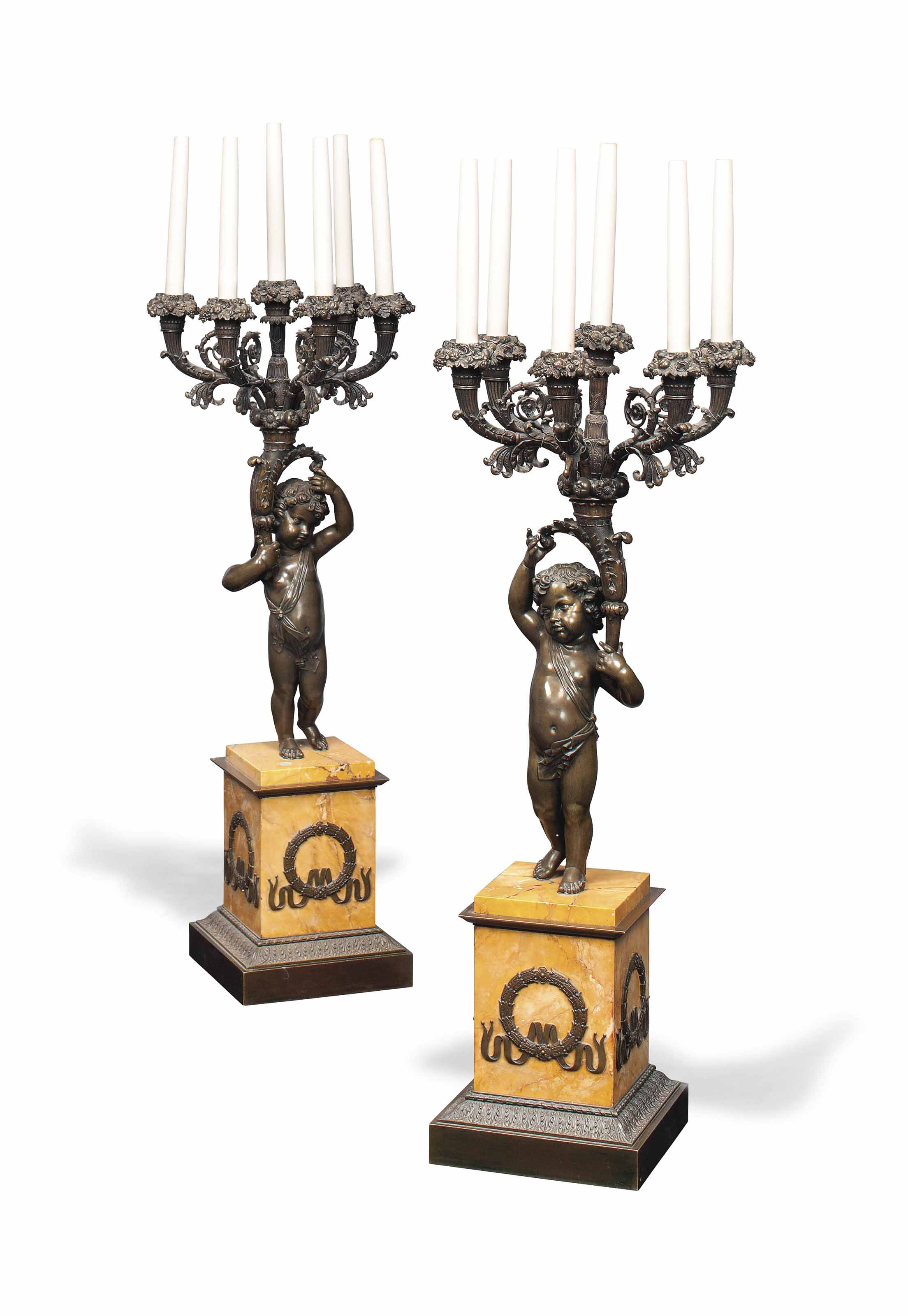 A PAIR OF LOUIS PHILLIPE BRONZ