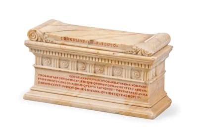 AN ITALIAN SIENA MARBLE MODEL