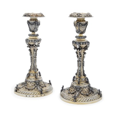 A DECORATIVE PAIR OF GERMAN PA