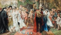 The marriage of Katherine and Petruchio: The Taming of the Shrew