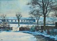 Tay Bridge from the artist's studio, Dundee