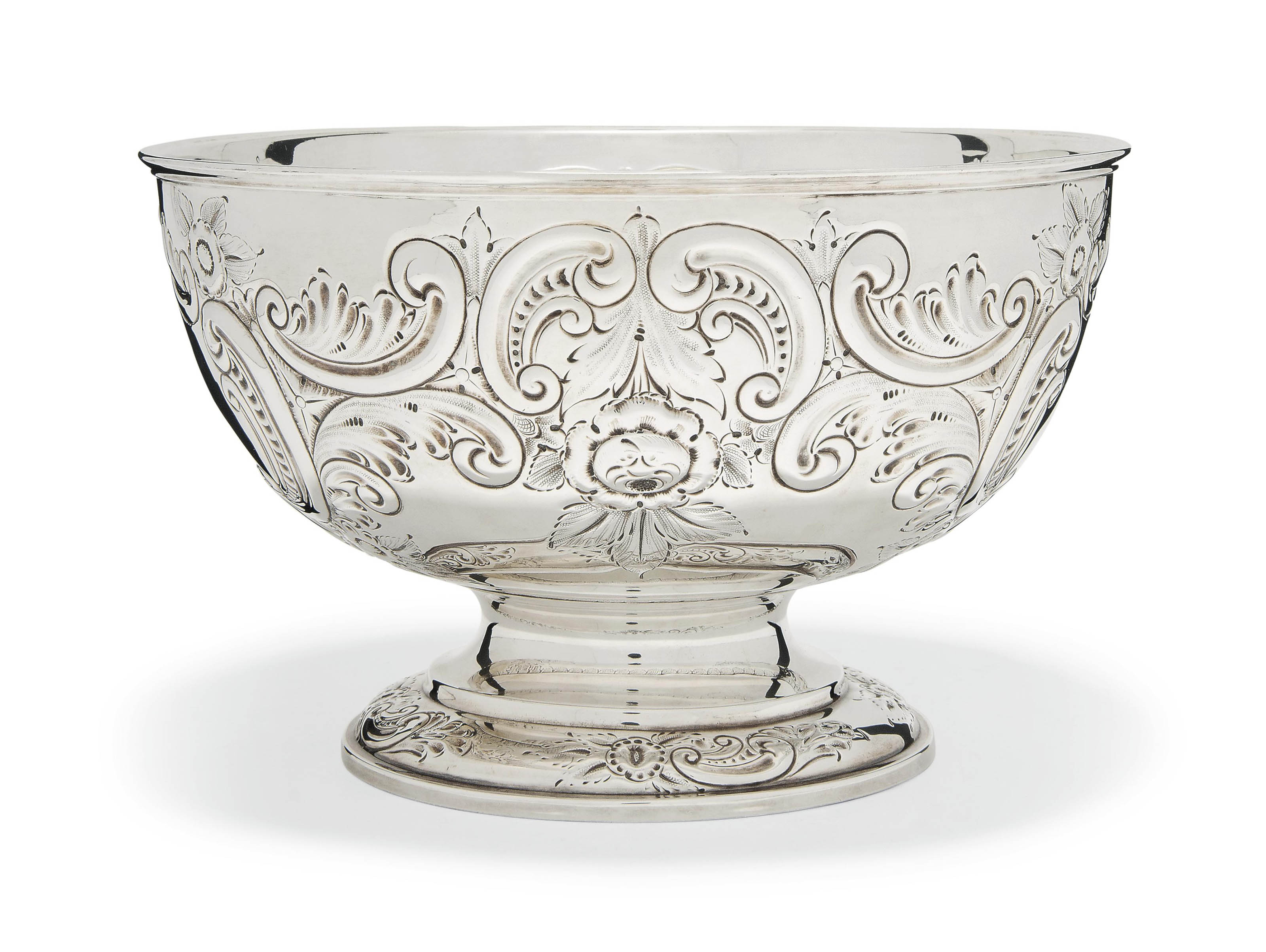 A LATE VICTORIAN SILVER ROSE B