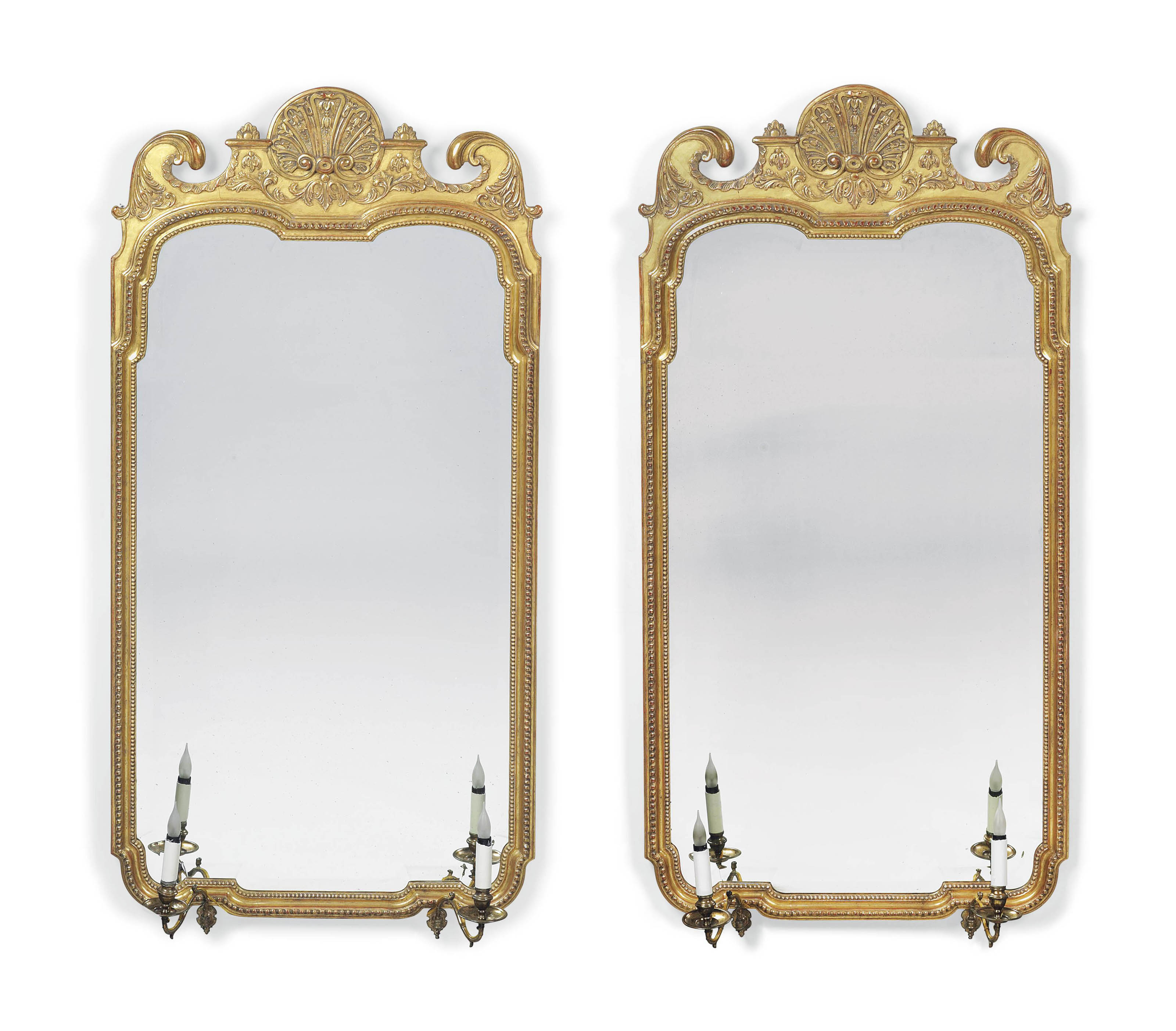 A LARGE PAIR OF GILTWOOD AND G