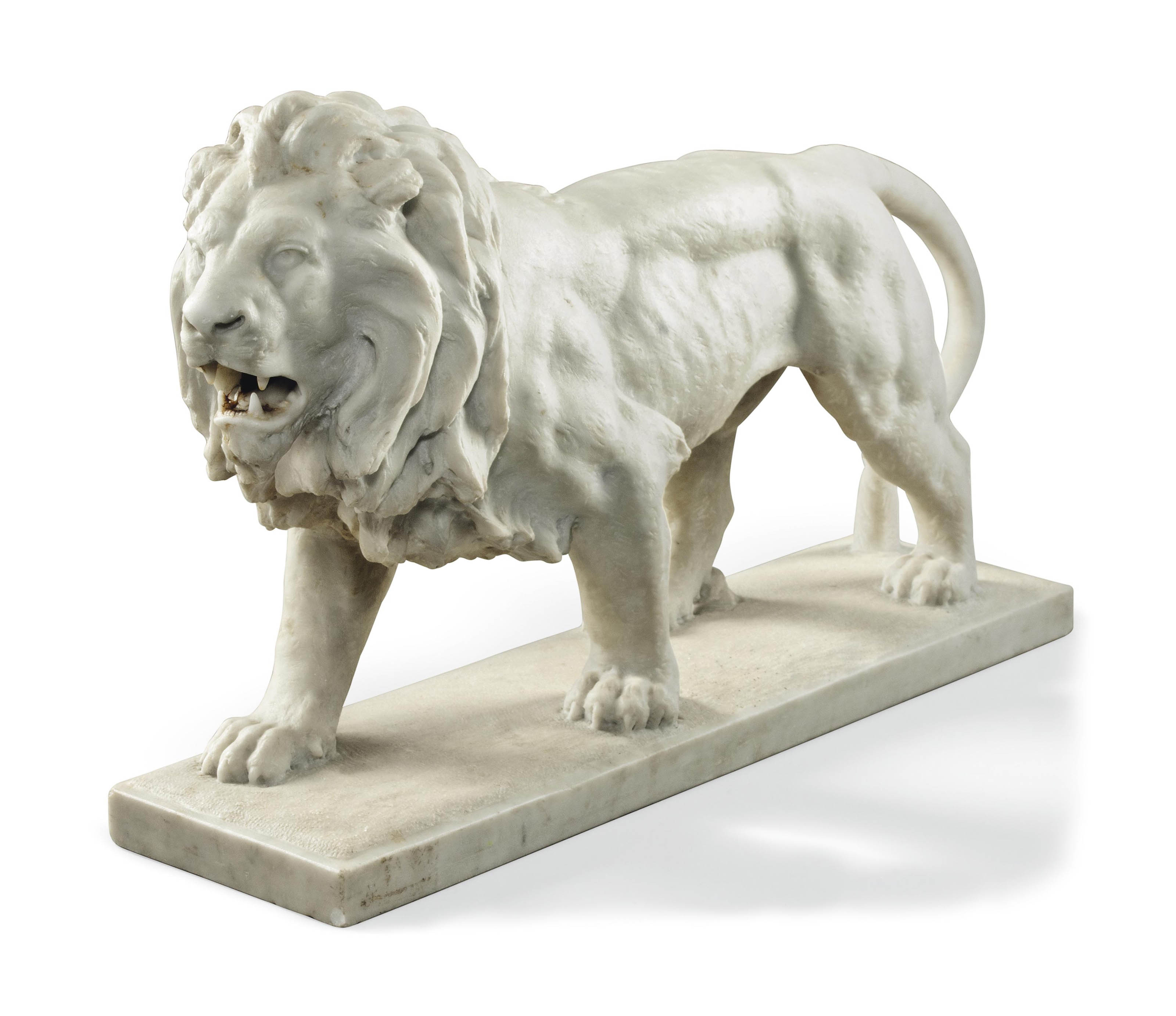 A FRENCH CARVED MARBLE MODEL O