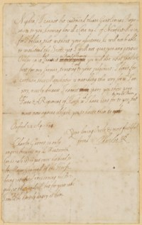CHARLES I (1600-1649), King of England, Scotland and Ireland. Autograph letter signed ('Charles R') to Prince Rupert ('Nepheu'), Oxford, 22 April 1646, one page, folio (some discolouration, minor loss to postscript), laid down on card, with three engravings.
