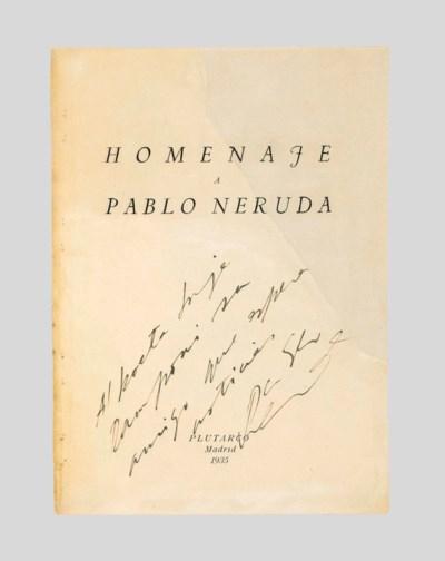 NERUDA, Pablo (1904-1973). Hom