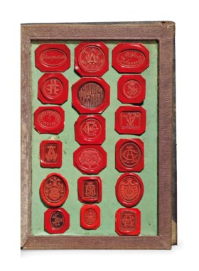 RUSSIAN SEALS -- A collection of wax seals, Russia, late 19t