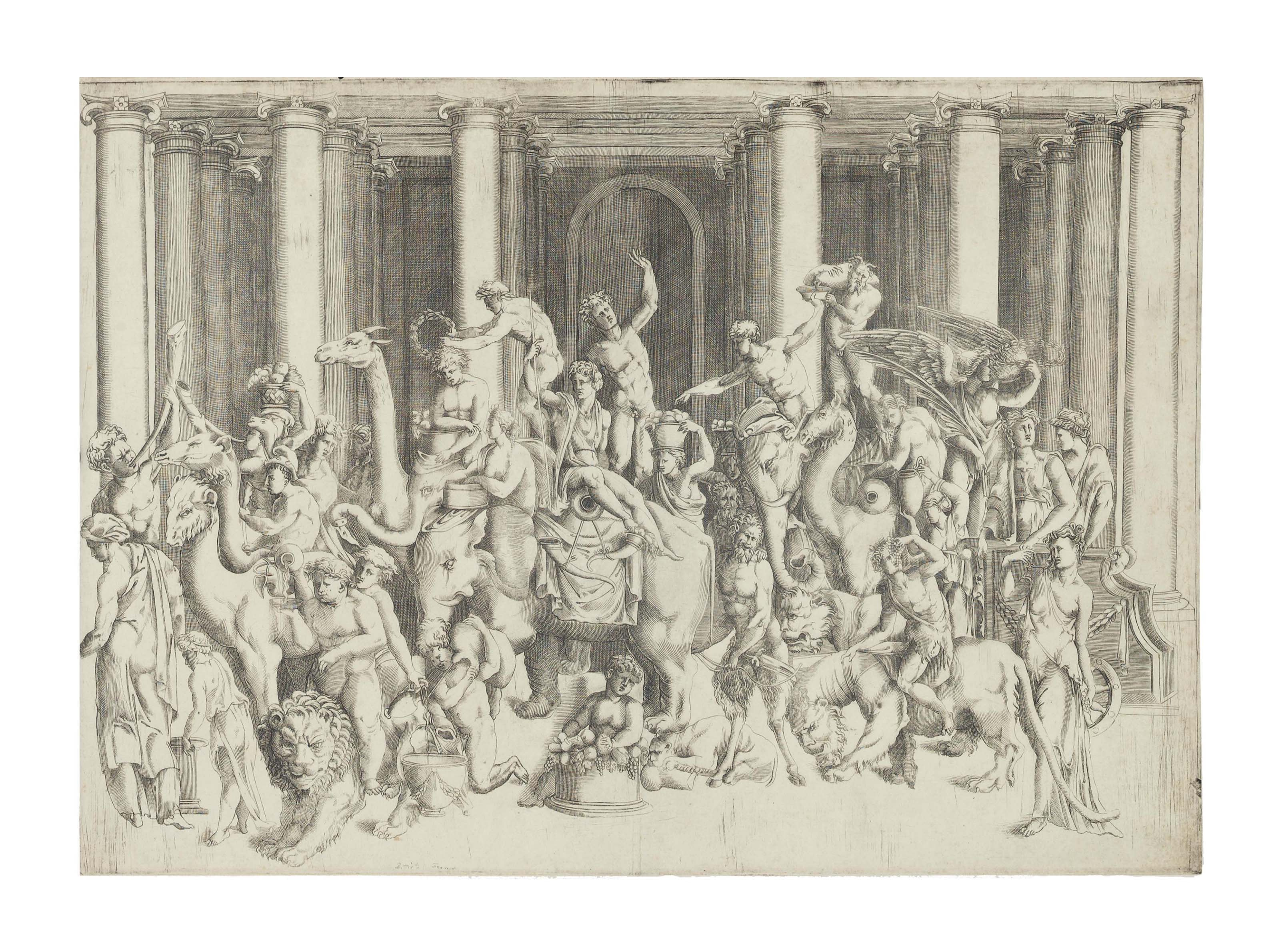 Bacchus and Ariadne on a Triumphal Chariot (Bartsch 32)