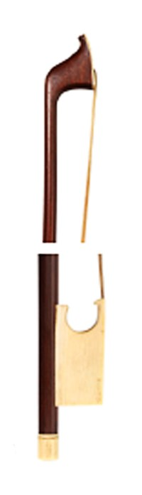 A GEORGE III IVORY-MOUNTED VIOLONCELLO BOW