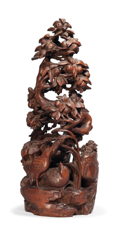 A CHINESE BAMBOO CARVING