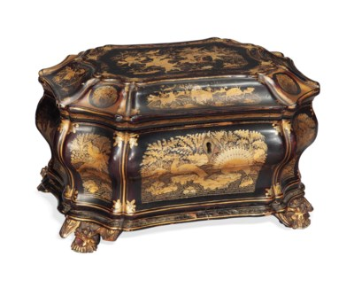A CHINESE GILT LACQUER OCTAGON