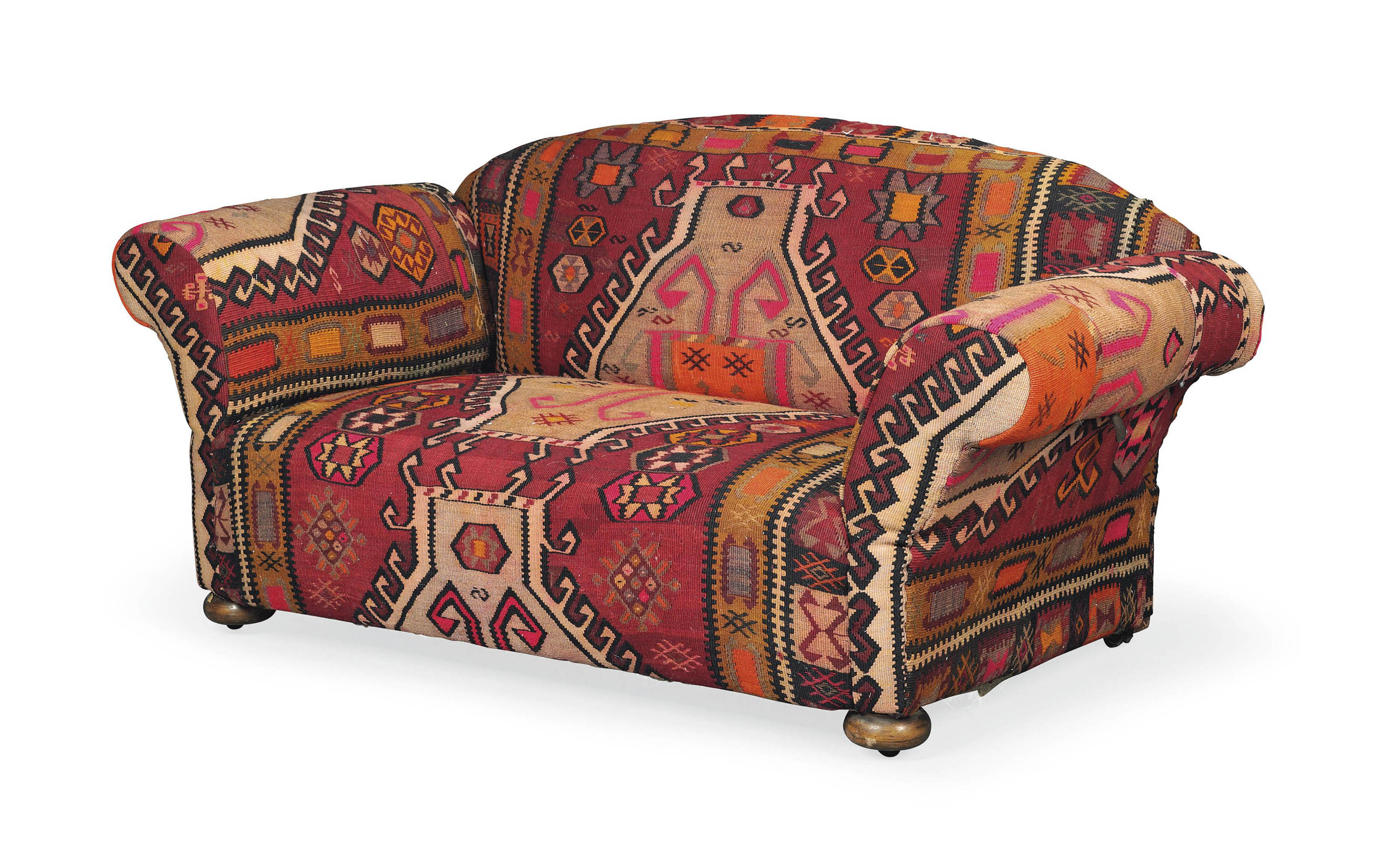Incredible A Small Kilim Upholstered Sofa Circa 1900 Late 19Th Ibusinesslaw Wood Chair Design Ideas Ibusinesslaworg