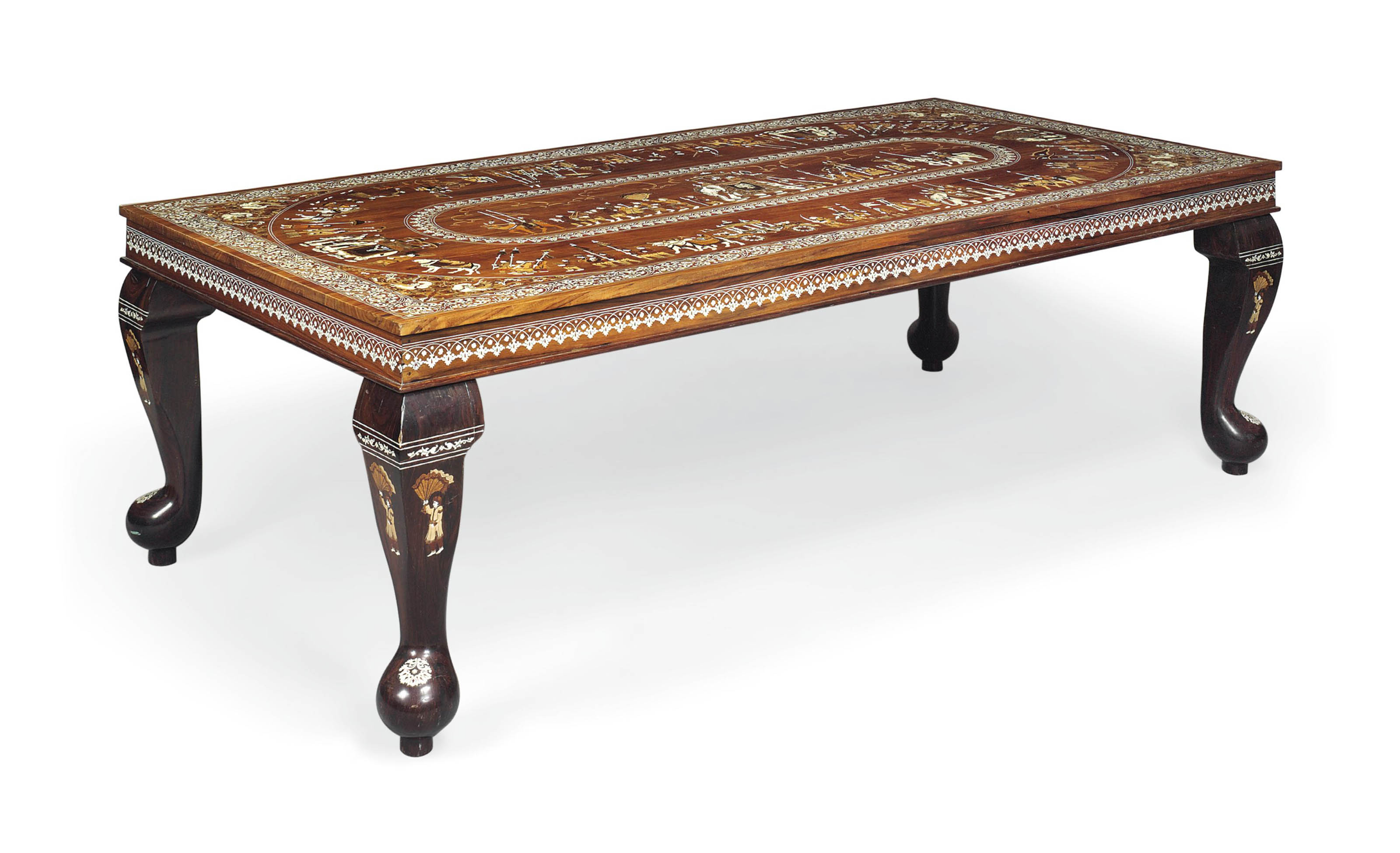 Enjoyable An Indian Rosewood Marquetry And Bone Inlaid Centre Table Dailytribune Chair Design For Home Dailytribuneorg