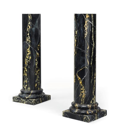 A PAIR OF ITALIAN PAINTED WOOD