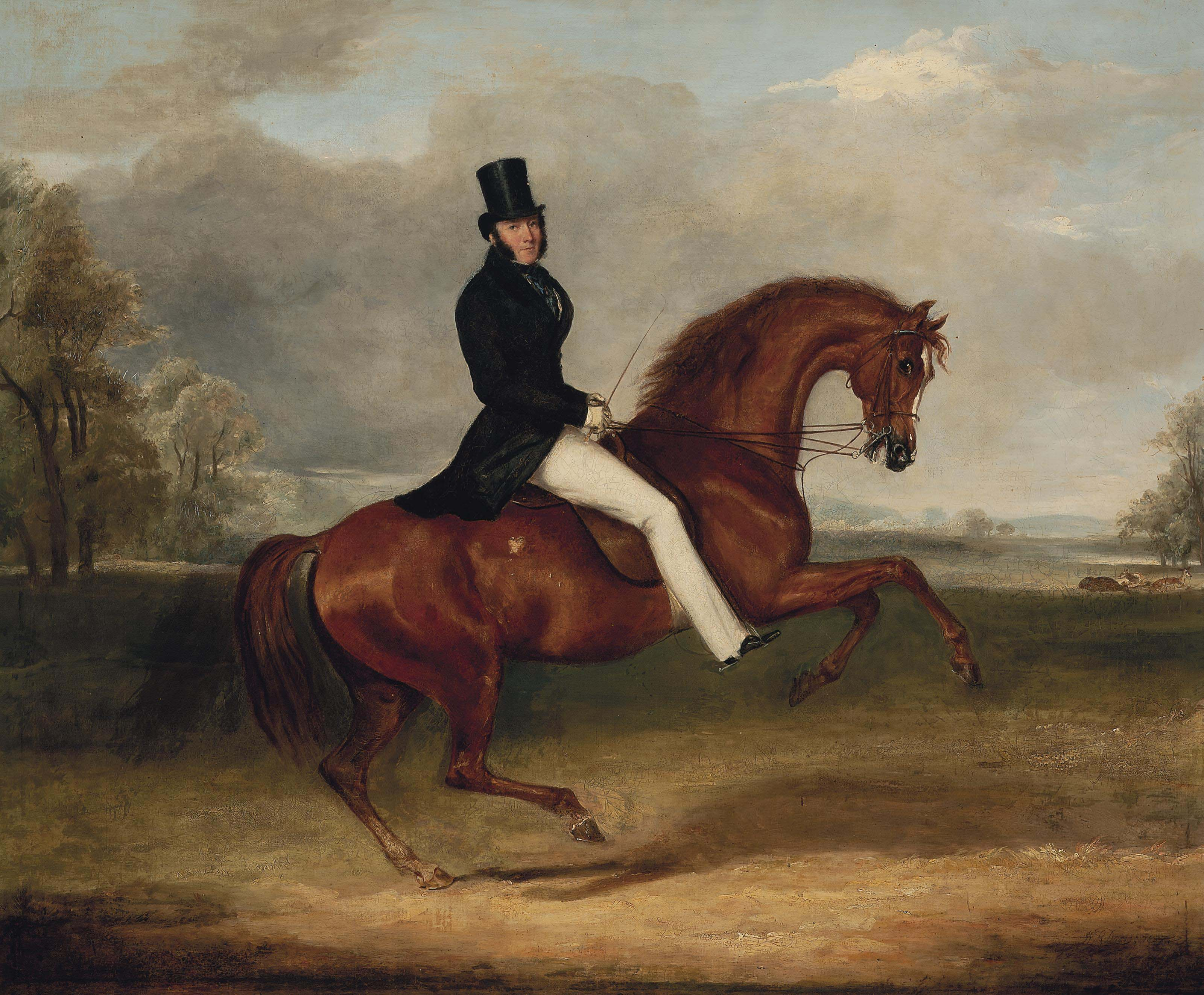 George Augustus Frederick, 6th Earl of Chesterfield, on his favourite hack by Sir Hercules