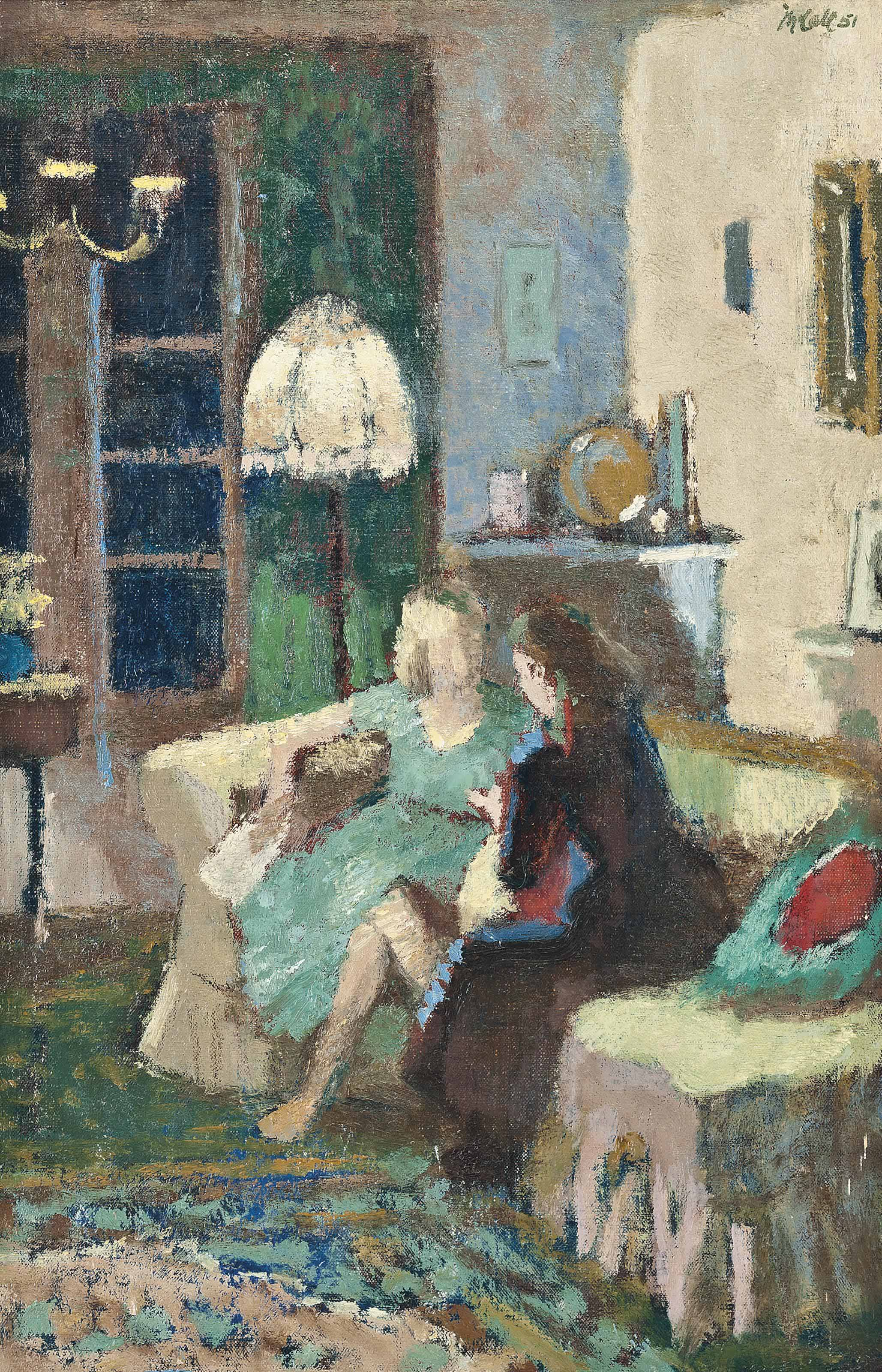 Conversation in an interior