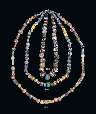 AN EGYPTIAN MOSAIC GLASS BEAD