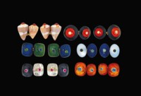 Six pairs of gem-set cufflinks, by Trianon