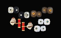 Four pairs of gem-set cufflinks, by Trianon