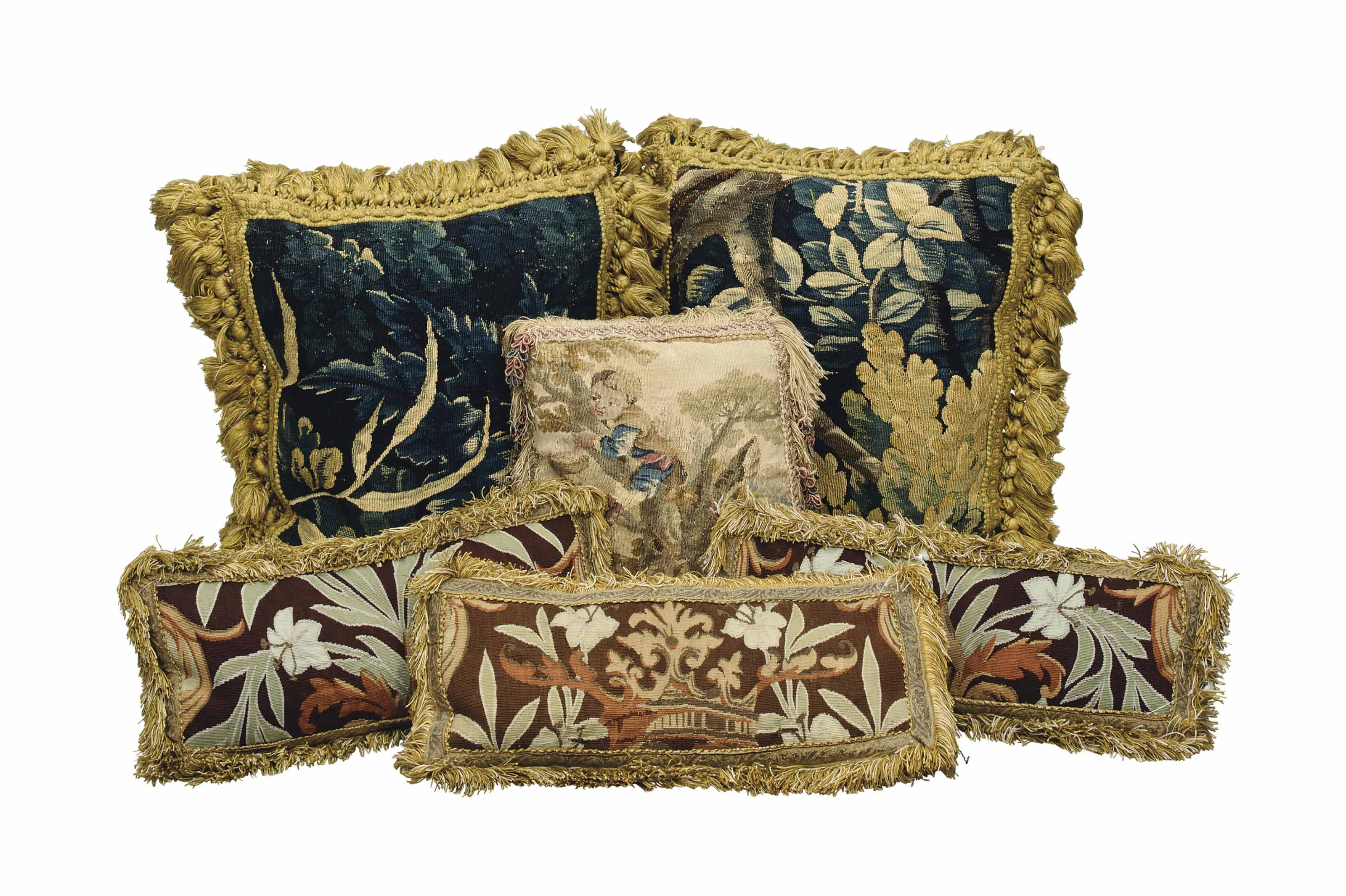 A COLLECTION OF CUSHIONS