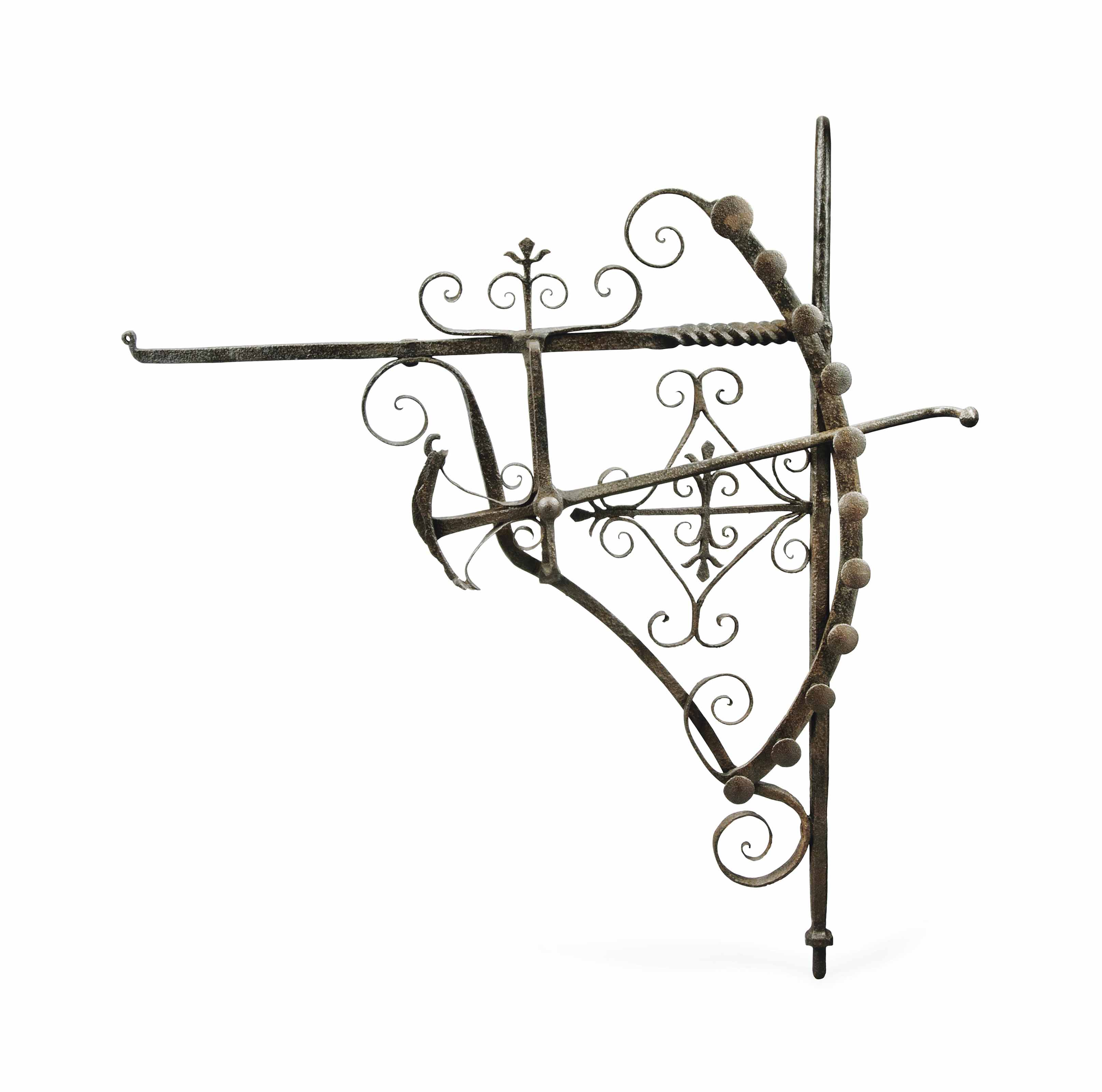 AN ENGLISH WROUGHT-IRON CHIMNE