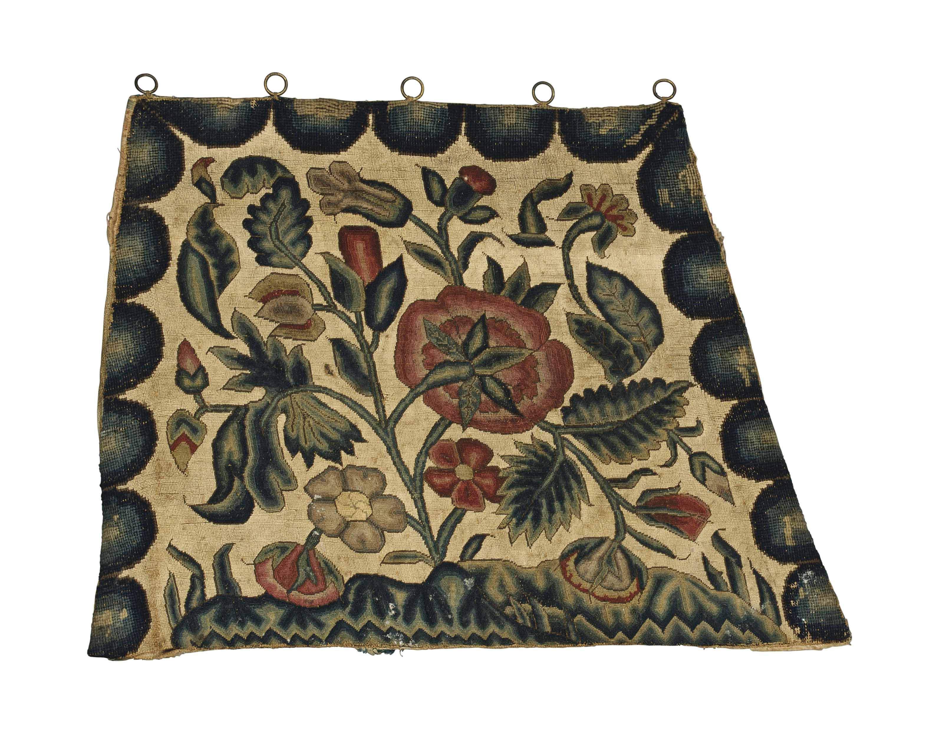 A NEEDLEWORK SEAT COVER