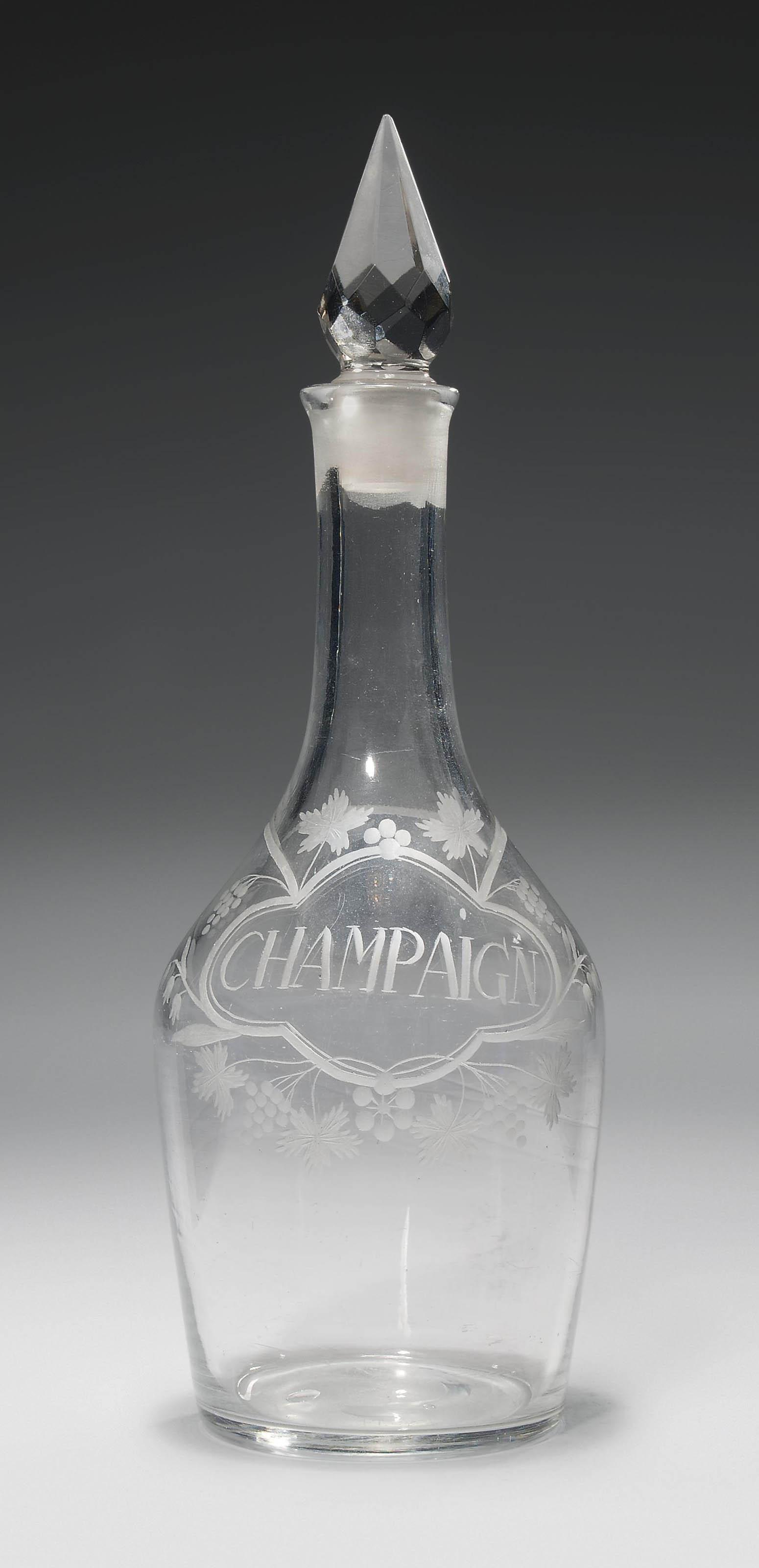 AN ENGRAVED GLASS CHAMPAIGN DE