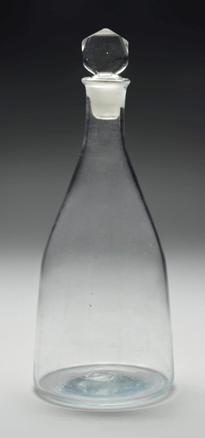 A MAGNUM-DECANTER AND STOPPER