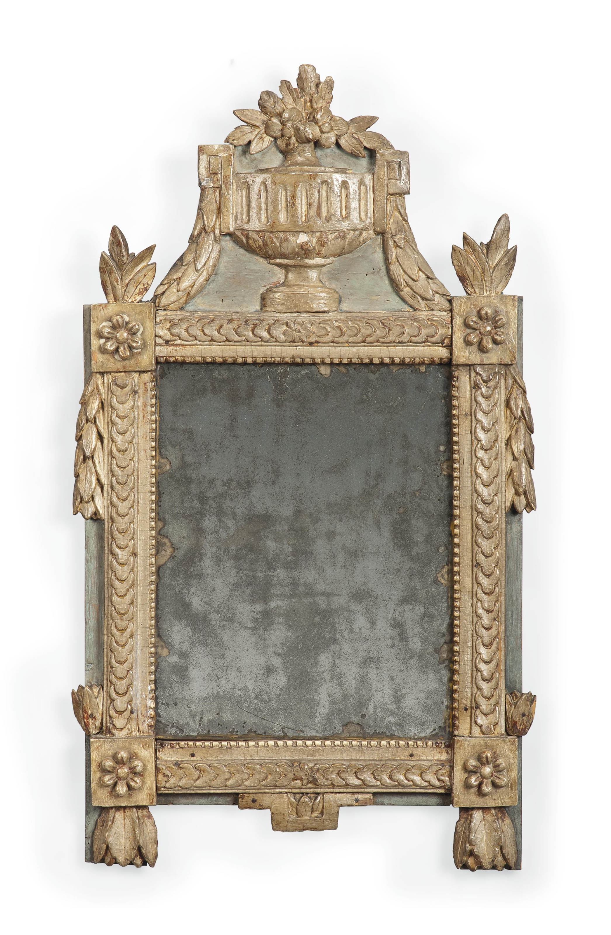 A FRENCH PAINTED MIRROR