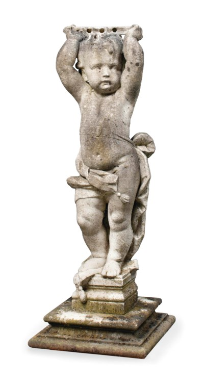 A FLEMISH MARBLE FIGURE OF A P