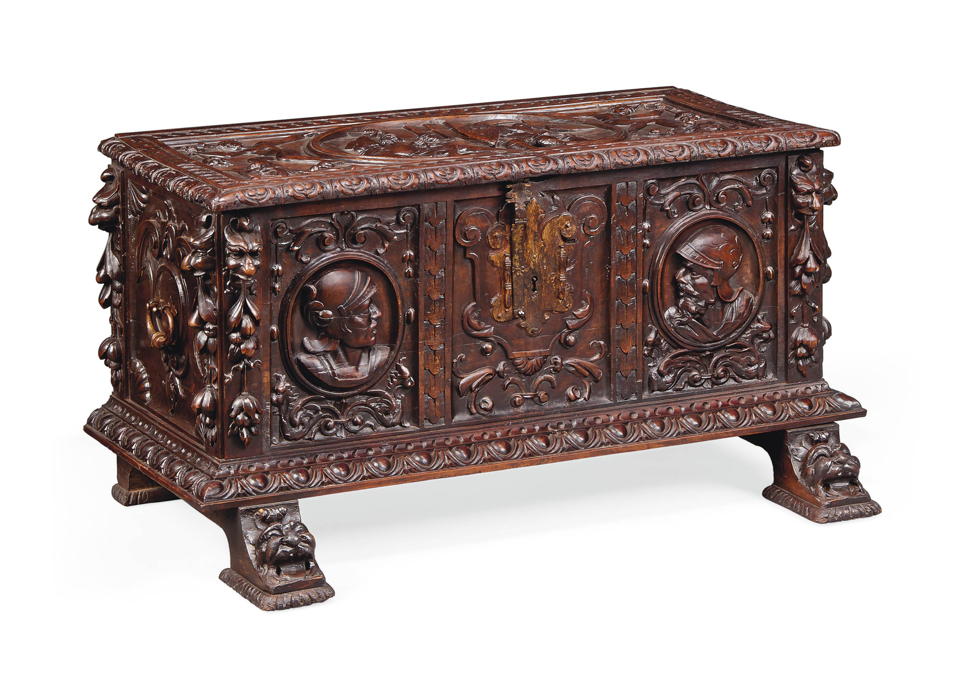 A SPANISH WALNUT CHEST