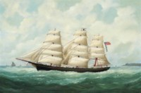The American ship Olive S Southard of San Francisco in French waters off Le Havre