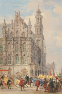Procession in the Grand Place, Brussels