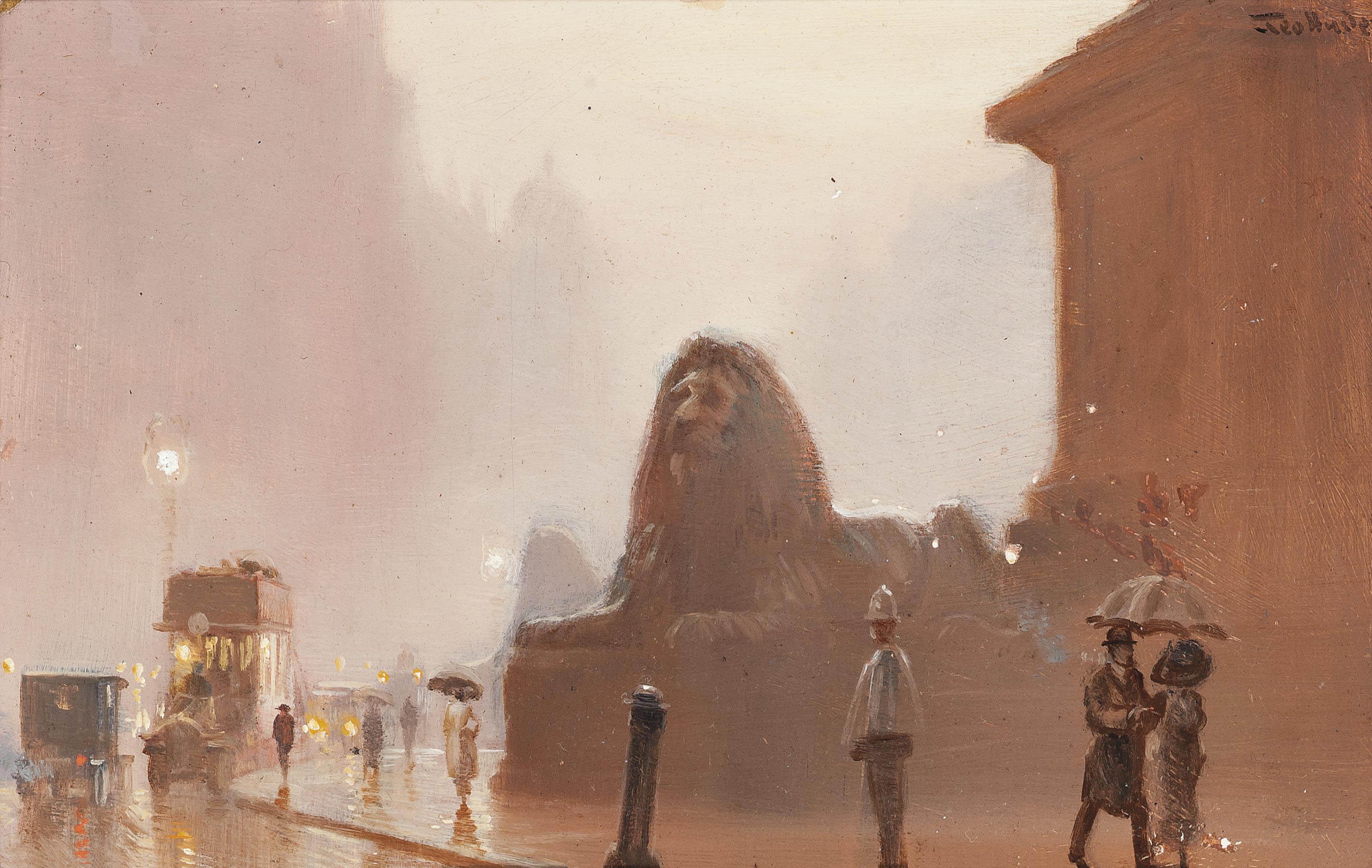The British Lion, Trafalgar Square
