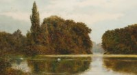 The swan's lake, Kew Gardens